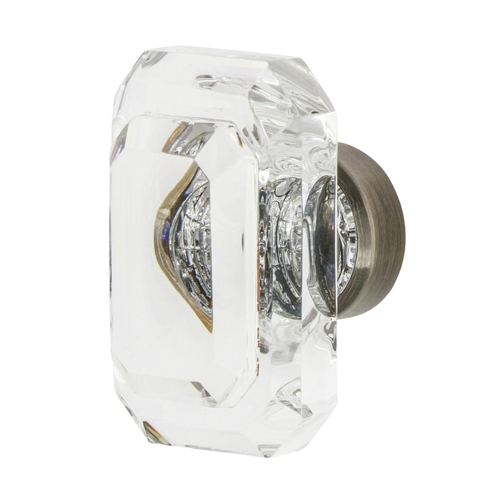 "Nostalgic Warehouse CKB_BCC_45 Baguette Cut Crystal 1 3/4"" Cabinet Knob in Antique Pewter"