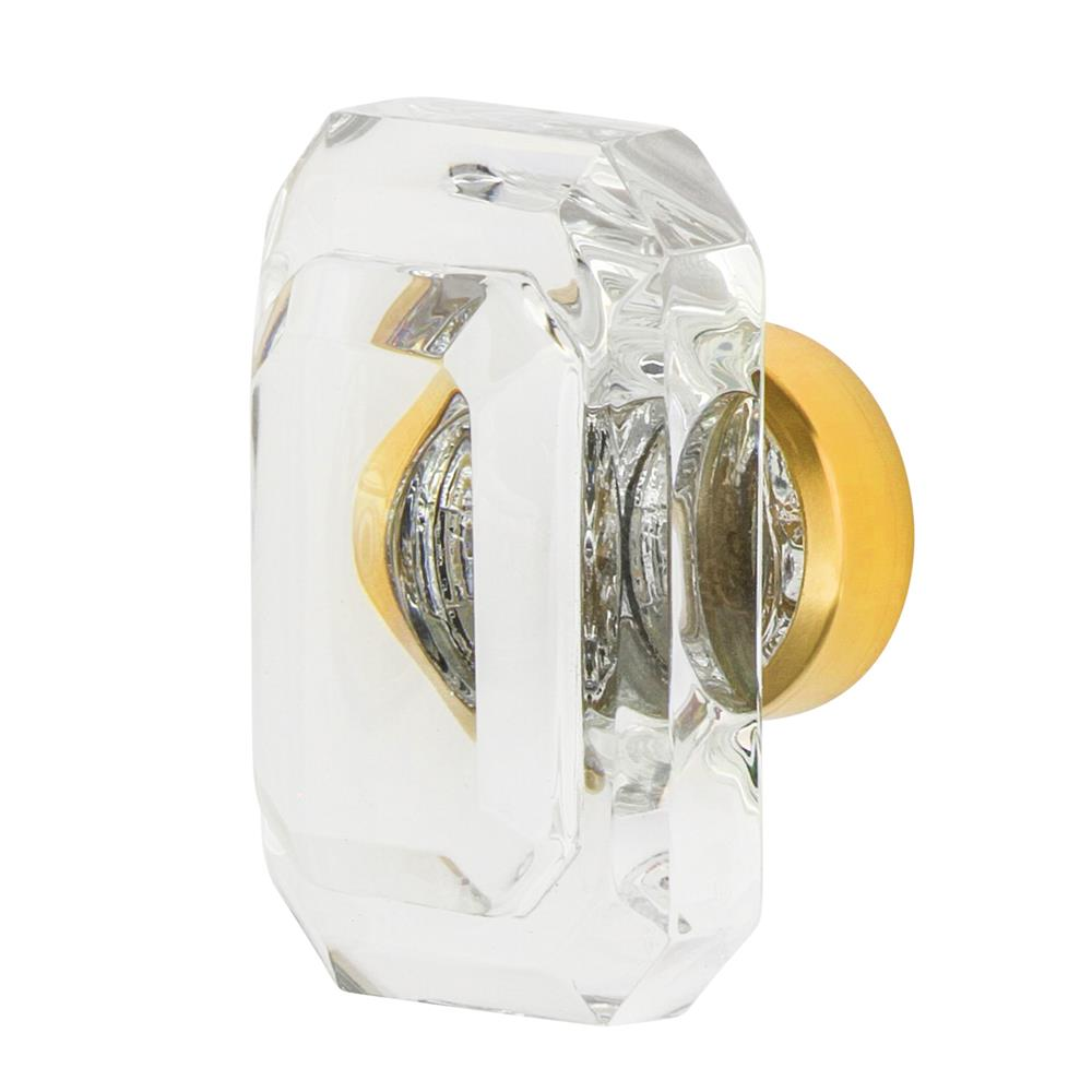 "Nostalgic Warehouse CKB_BCC_45 Baguette Cut Crystal 1 3/4"" Cabinet Knob in Polished Brass"