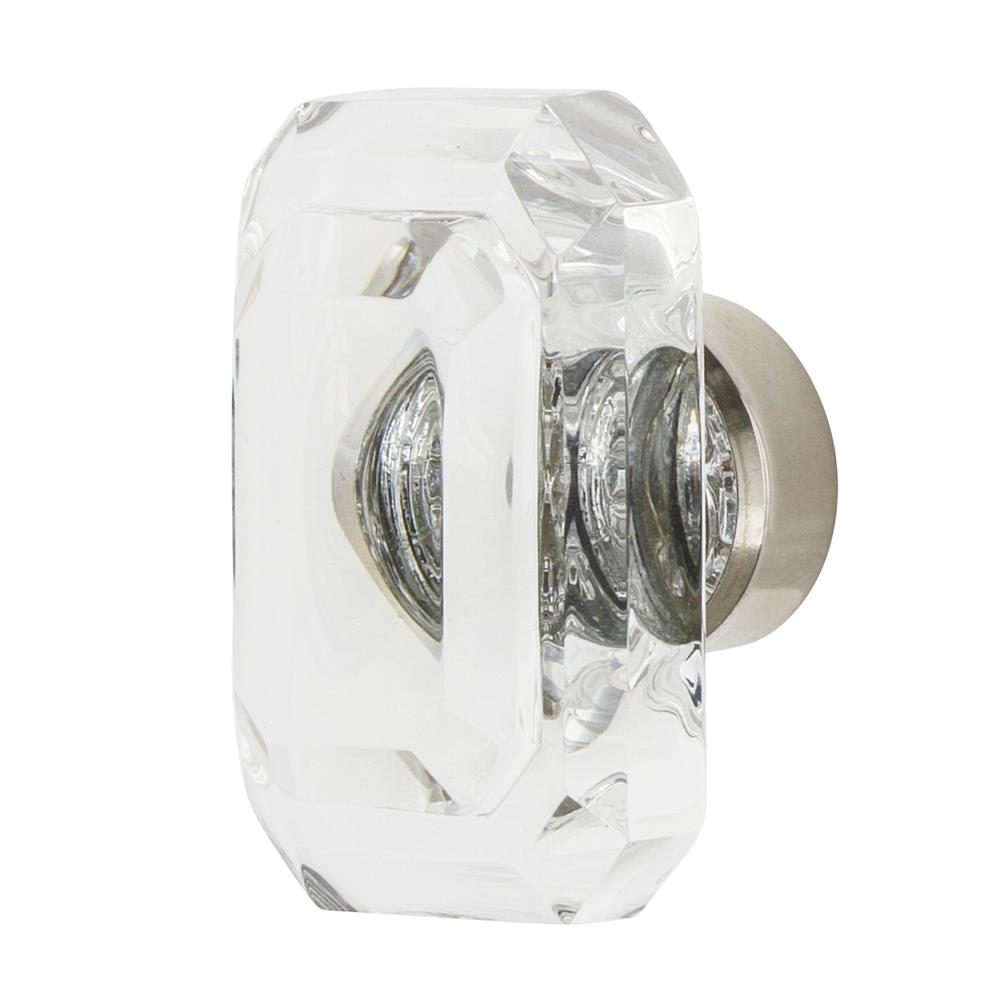 "Nostalgic Warehouse CKB_BCC_45 Baguette Cut Crystal 1 3/4"" Cabinet Knob in Polished Nickel"