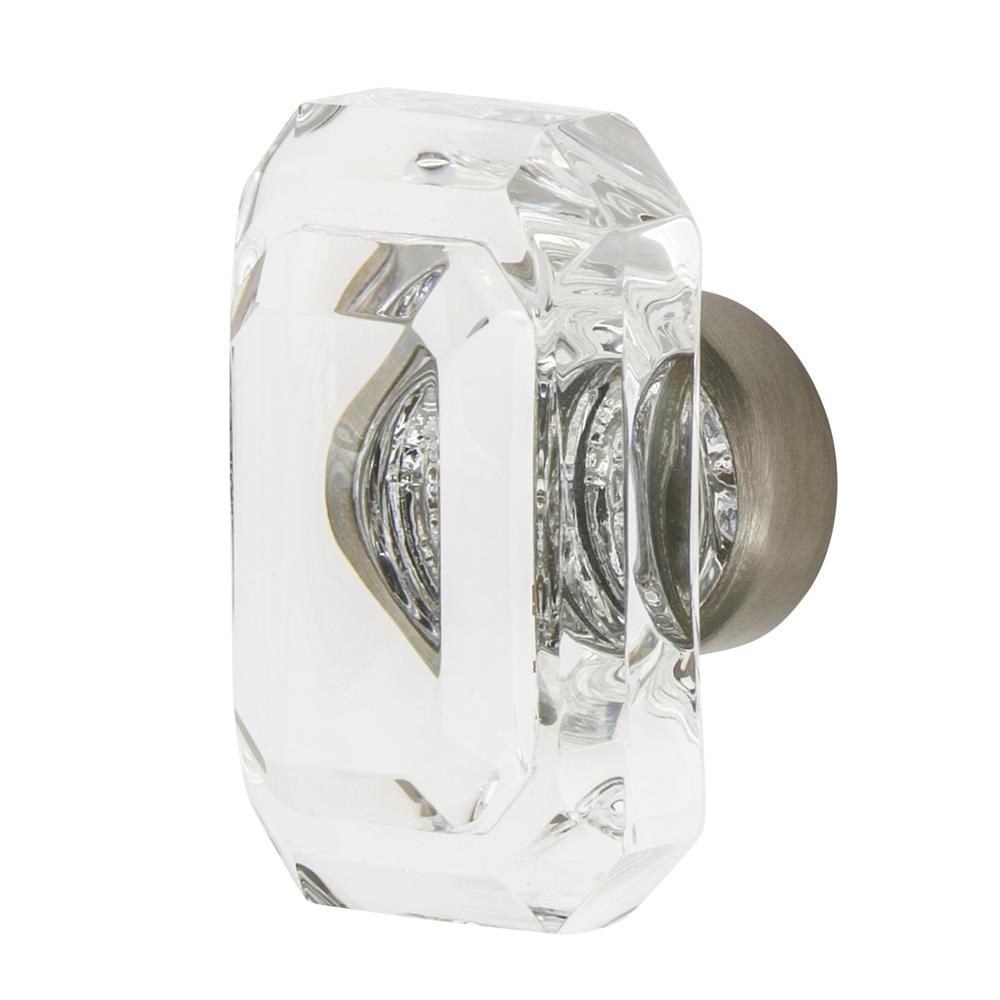 "Nostalgic Warehouse CKB_BCC_45 Baguette Cut Crystal 1 3/4"" Cabinet Knob in Satin Nickel"