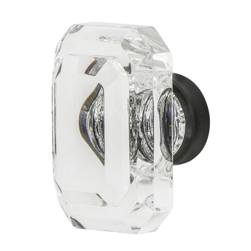 "Nostalgic Warehouse CKB_BCC_45 Baguette Cut Crystal 1 3/4"" Cabinet Knob in Timeless Bronze"
