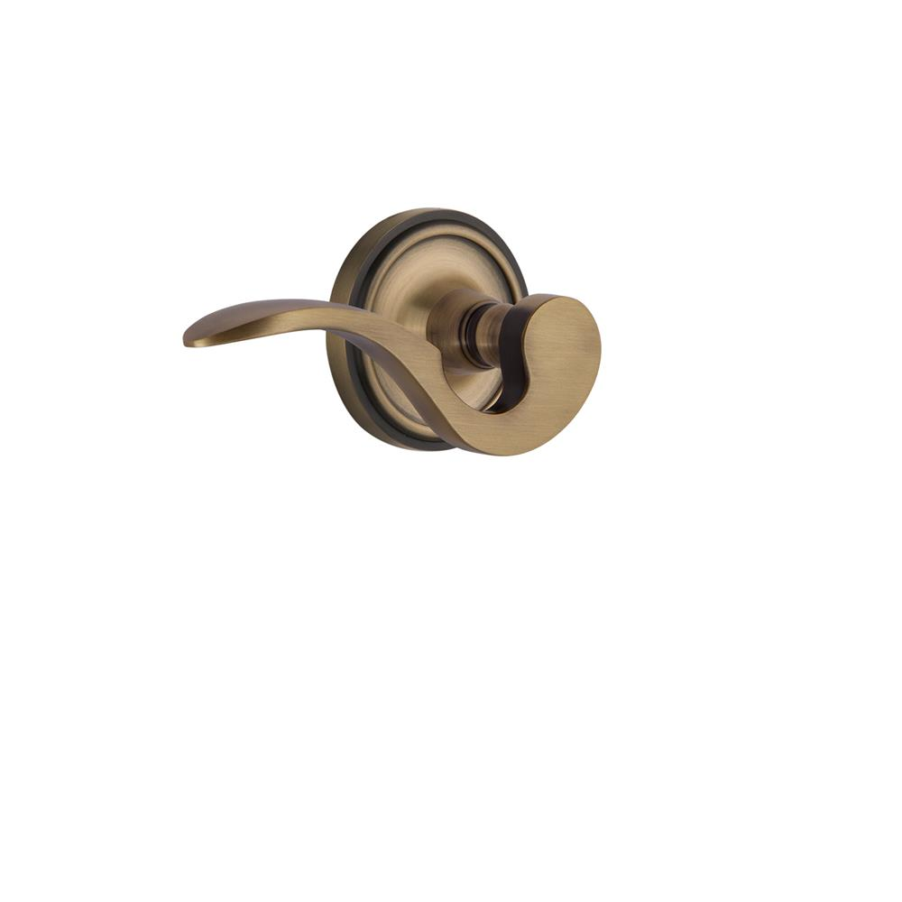 Nostalgic Warehouse CLAMAN Classic Rose Single Dummy Manor Lever in Antique Brass