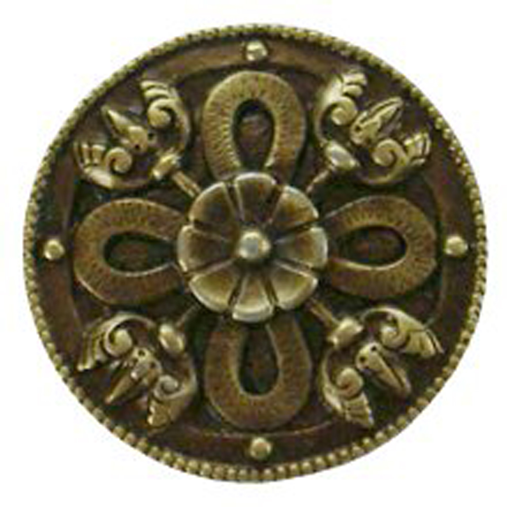 Notting Hill NHK-103-AB Celtic Shield Knob Antique Brass
