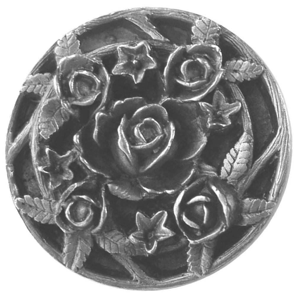 Notting Hill NHK-126-AP Saratoga Rose Knob Antique Pewter