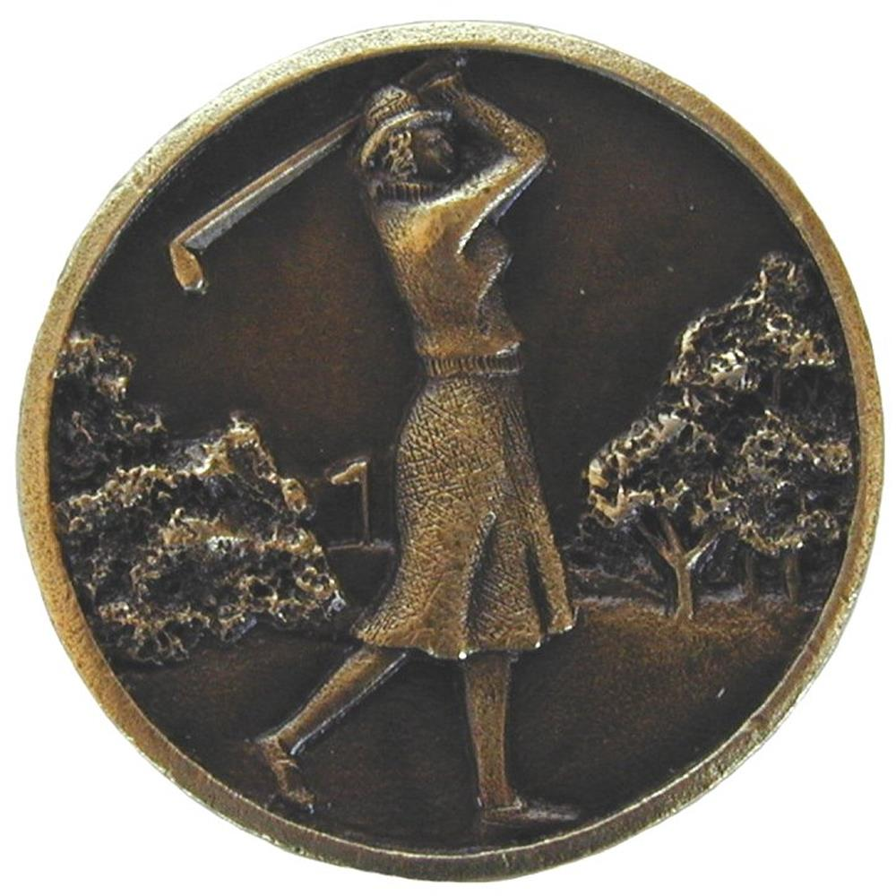 Notting Hill NHK-131-AB Lady of the Links Knob Antique Brass