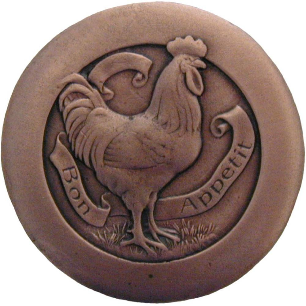 Notting Hill NHK-167-AC Rooster  Knob Antique Copper
