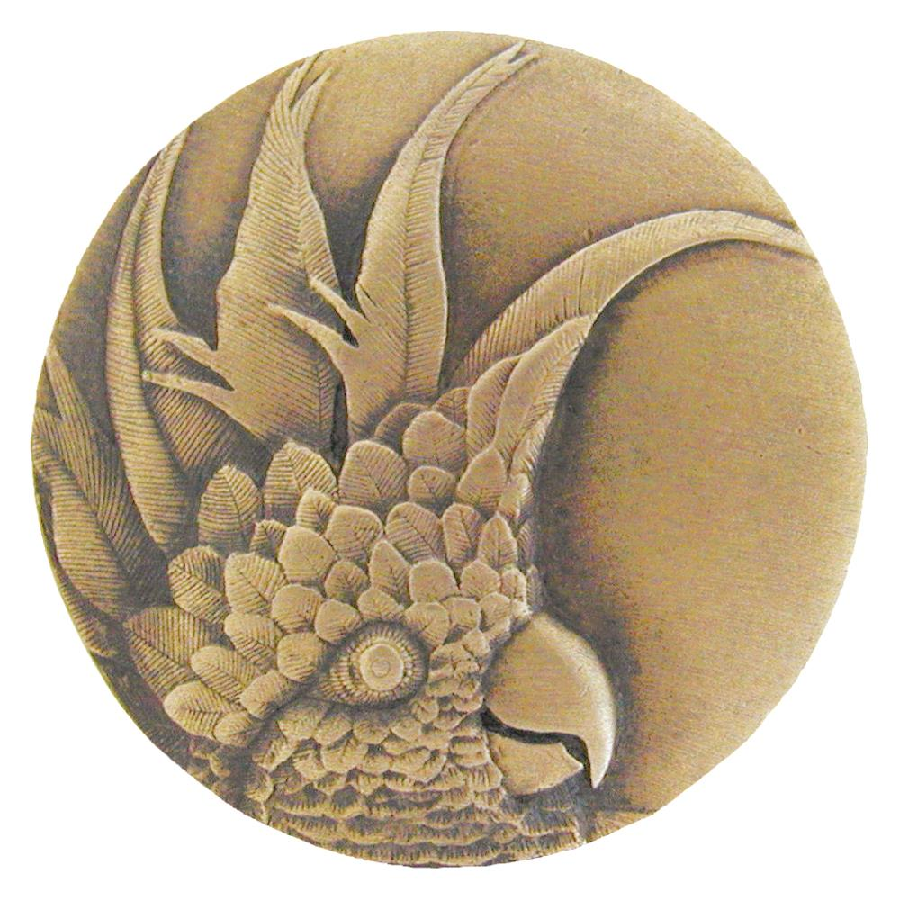 Notting Hill NHK-327-AB-L Cockatoo Knob Antique Brass (Large - Left side)