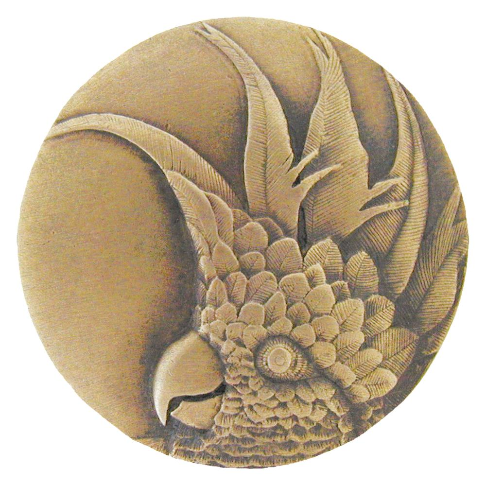 Notting Hill NHK-327-AB-R Cockatoo Knob Antique Brass (Large - Right side)