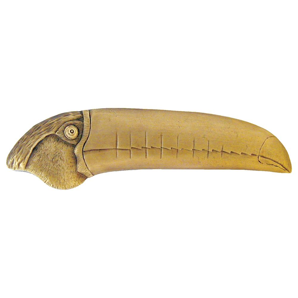 Notting Hill NHP-330-AB-L Toucan Pull Antique Brass (Left side)
