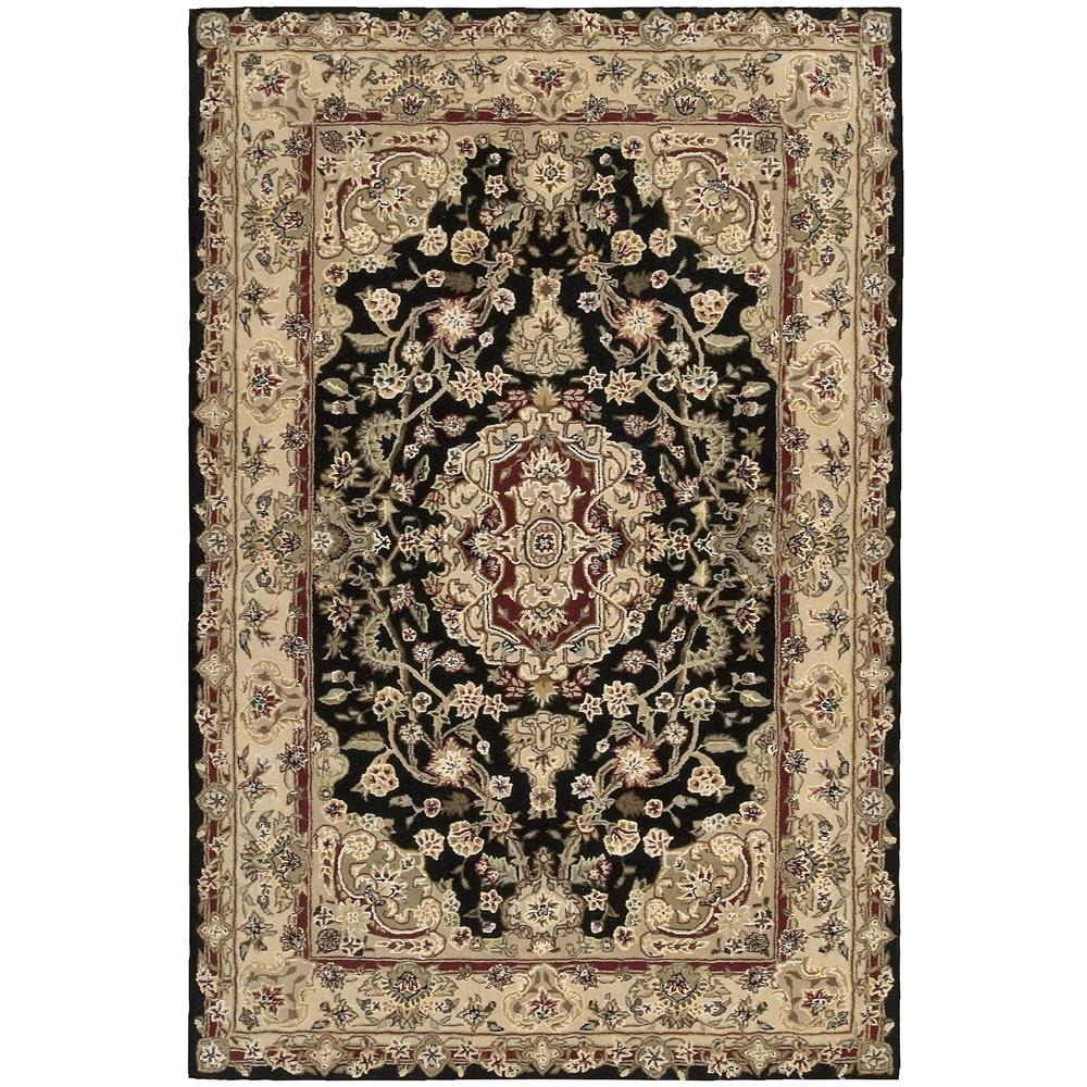 Nourison 2028 Nourison 2000 2 Ft. X 3 Ft. Rectangle Rug in Black
