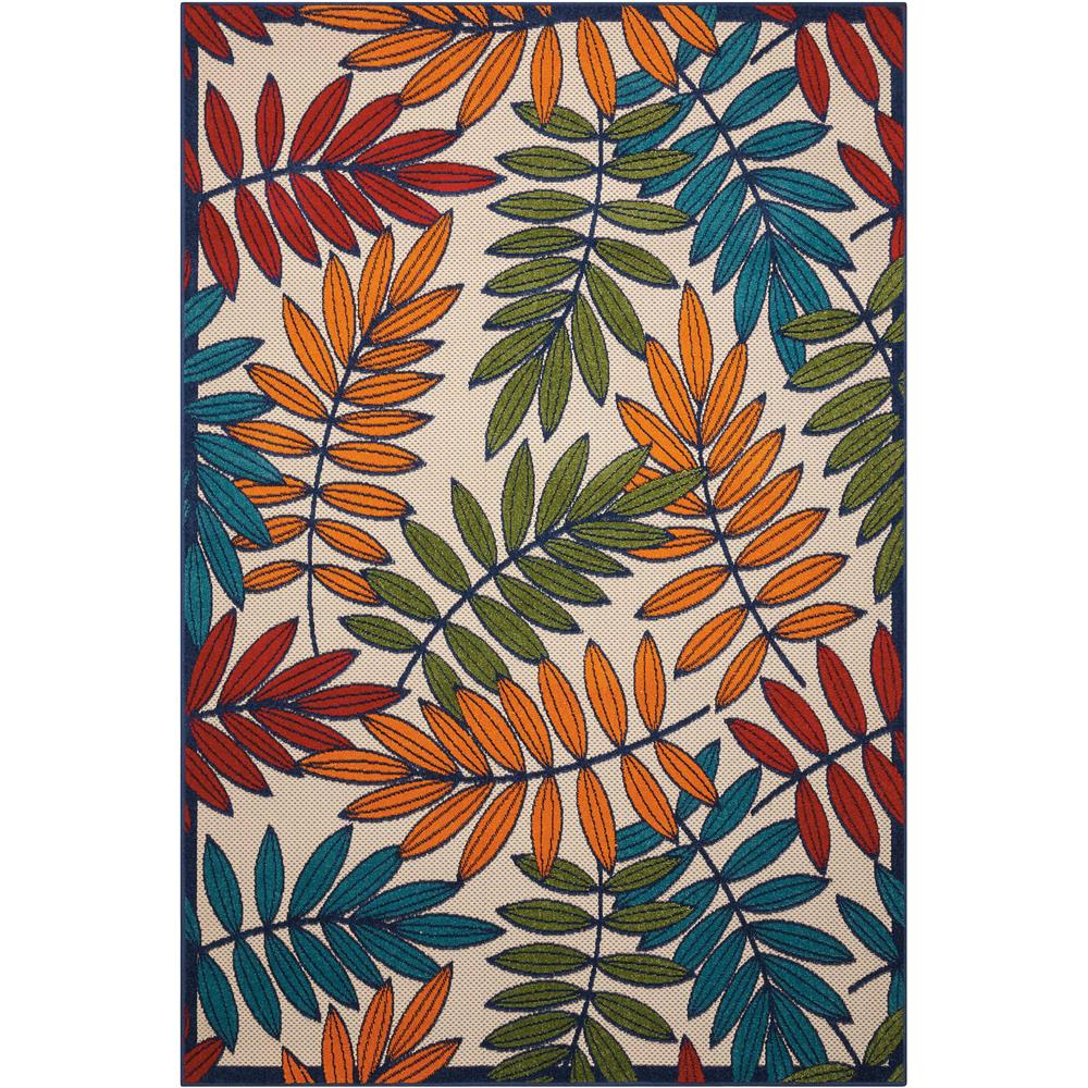 Nourison ALH18 Aloha 7 Ft.10 In. x 10 Ft.6 In. Indoor/Outdoor Rectangle Rug in  Multicolor