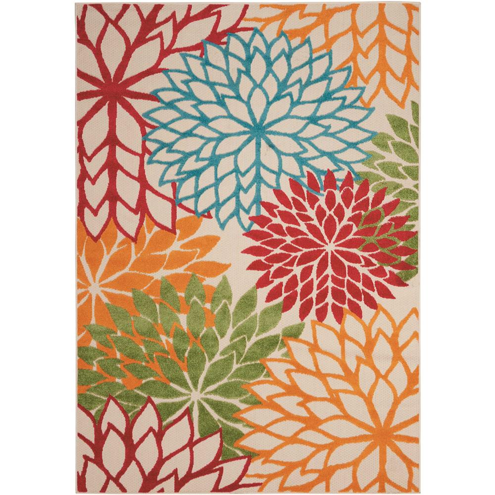 Nourison ALH05 Aloha 2 Ft. 8 In.  X 4 Ft. Indoor/Outdoor Rectangle Rug in Green