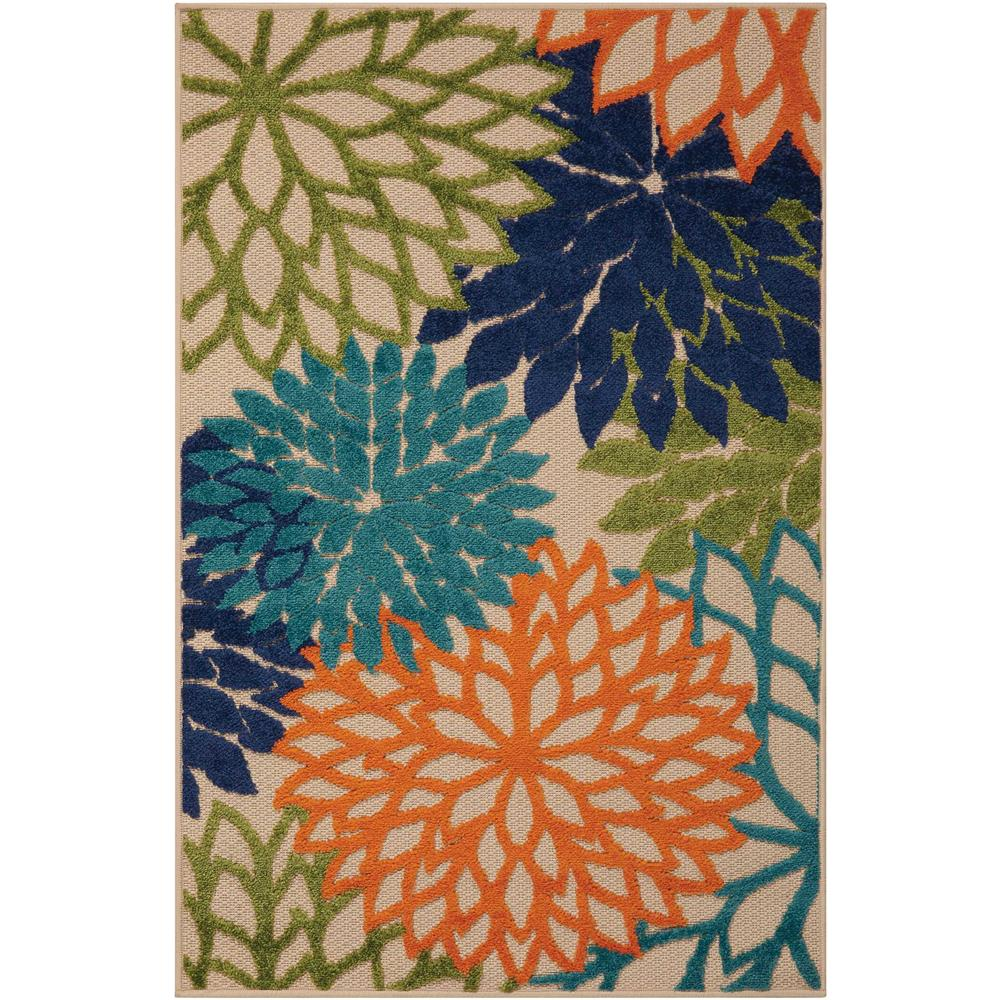 Nourison ALH05 Aloha 2 Ft.8 In. x 4 Ft. Indoor/Outdoor Rectangle Rug in  Multicolor
