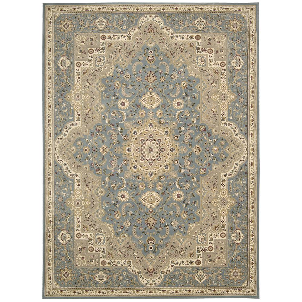 Nourison ANT06 Antiquities 2 Ft.2 In. x 7 Ft.6 In. Indoor/Outdoor Runner Rug in  Slate Blue