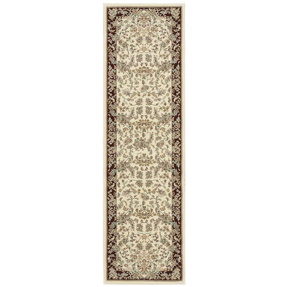 Nourison ANT07 Antiquities 2 Ft.2 In. x 7 Ft.6 In. Indoor/Outdoor Runner Rug in  Ivory