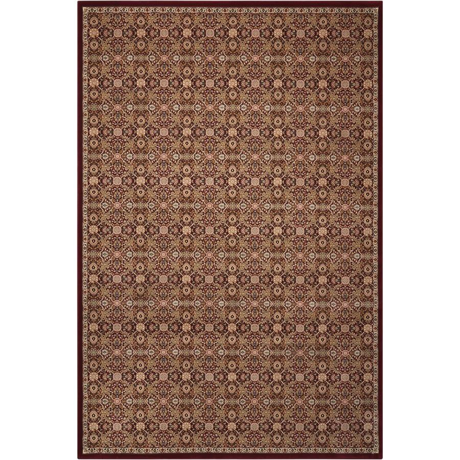 Nourison ANT08 Antiquities 2 Ft.2 In. x 7 Ft.6 In. Indoor/Outdoor Runner Rug in  Burgundy