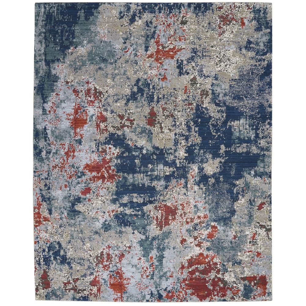 Nourison ATW01 Artworks 7 Ft.9 In. x 9 Ft.9 In. Indoor/Outdoor Rectangle Rug in  Slate Multi