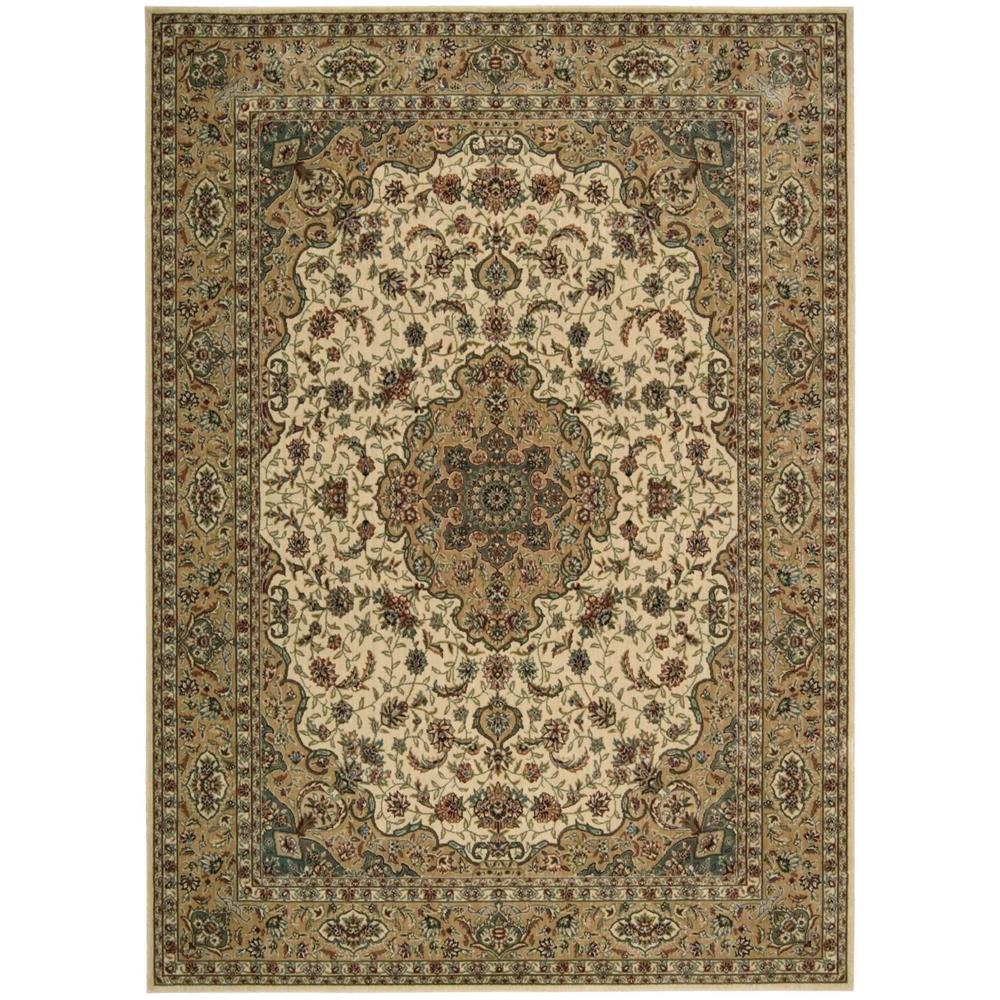 Nourison BD02 Fantasy 2 Ft.  X 3 Ft. 6 In. Rectangle Rug in Ivory/Gold,Herb