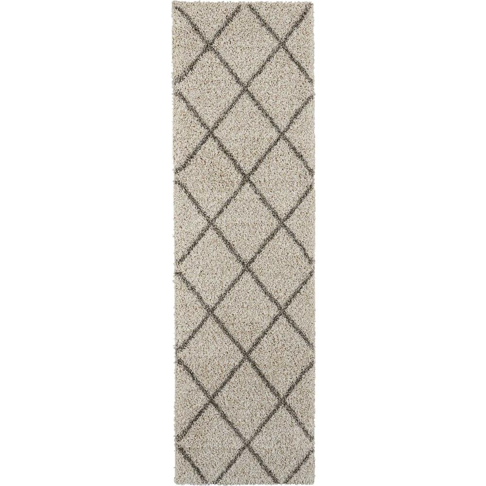 Nourison BRI03 Brisbane 2 Ft. x 6 Ft. Indoor/Outdoor Runner Rug in  Cream