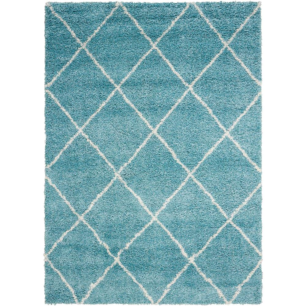 Nourison BRI03 Brisbane 8 Ft.2 In. x 10 Ft. Indoor/Outdoor Rectangle Rug in  Aqua