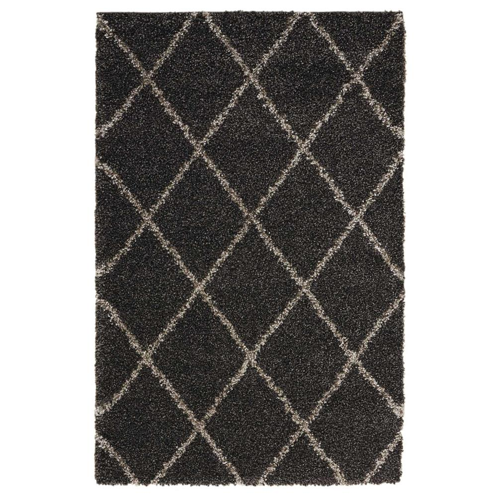 Nourison BRI03 Brisbane 5 Ft. x 7 Ft. Indoor/Outdoor Rectangle Rug in  Charcoal