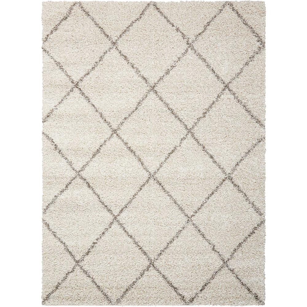 Nourison BRI03 Brisbane 5 Ft. x 7 Ft. Indoor/Outdoor Rectangle Rug in  Cream