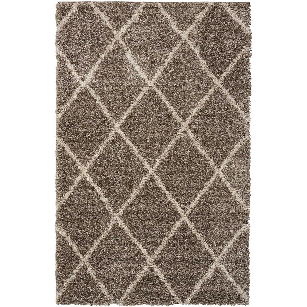 Nourison BRI03 Brisbane 8 Ft.2 In. x 10 Ft. Indoor/Outdoor Rectangle Rug in  Stone