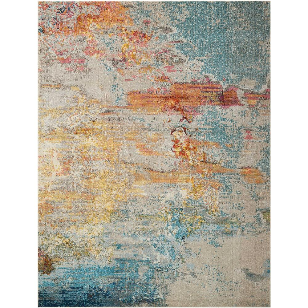 Nourison CES02 Celestial 3 Ft.11 In. x 5 Ft.11 In. Indoor/Outdoor Rectangle Rug in  Sealife