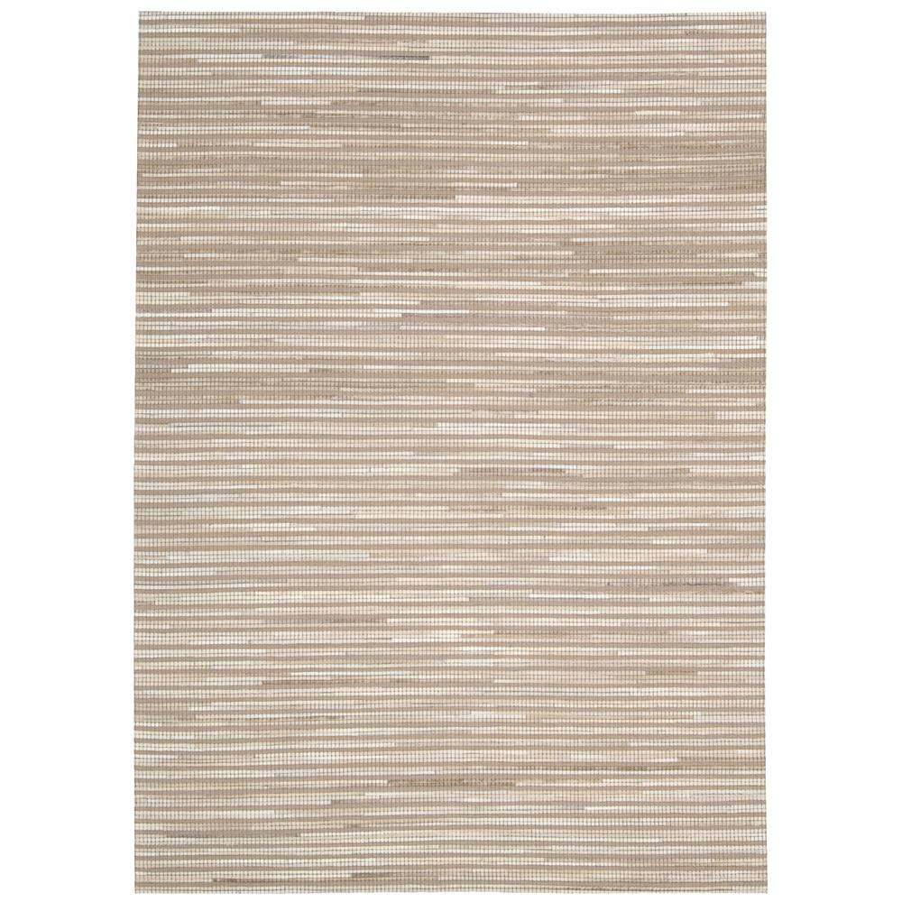 Nourison CPEL1 Capelle 5 Ft. 3 In. X 7 Ft. 4 In. Rectangle Rug in Beige