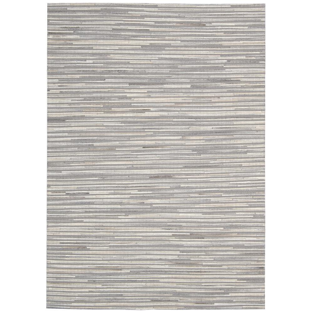 Nourison CPEL1 Capelle 5 Ft. 3 In. X 7 Ft. 4 In. Rectangle Rug in Silver