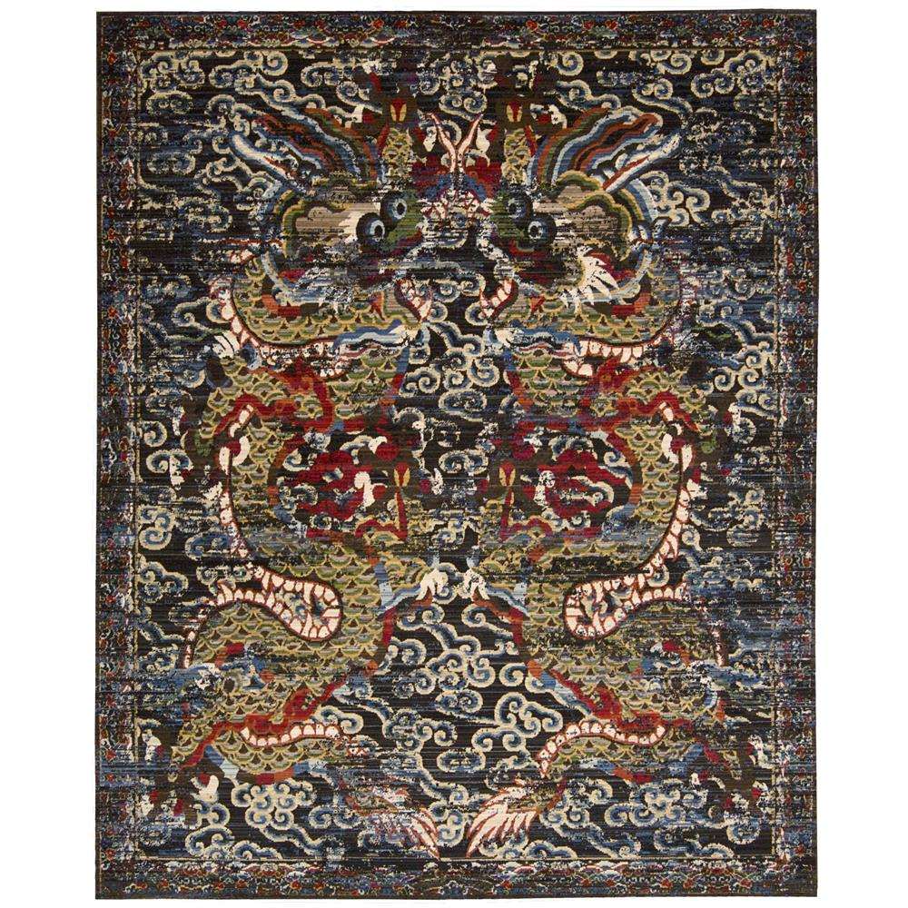 Nourison DYN05 Dynasty 5 Ft. 6 In. X 8 Ft. Rectangle Rug in Midnight