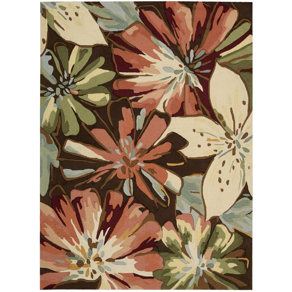Nourison FA16 Fantasy 2 Ft.3 In. x 8 Ft. Indoor/Outdoor Runner Rug in  Multicolor