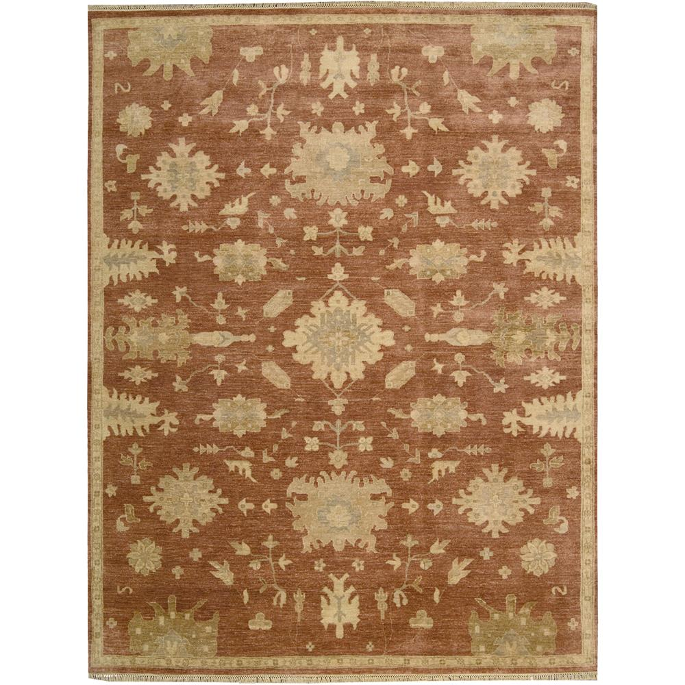 Nourison GRA03 Grand Estate 5 Ft. 6 In. X 8 Ft. Rectangle Rug in Persimmon