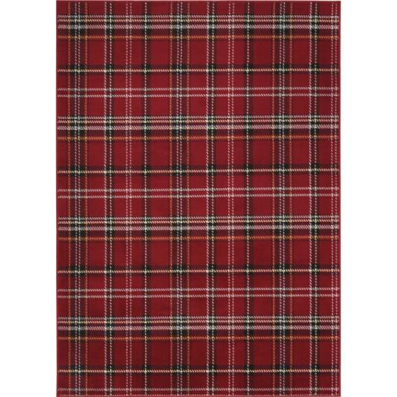 Nourison GRF03 Tahoe 5 Ft. 3 In. X 7 Ft. 3 In. Rectangle Rug in Red