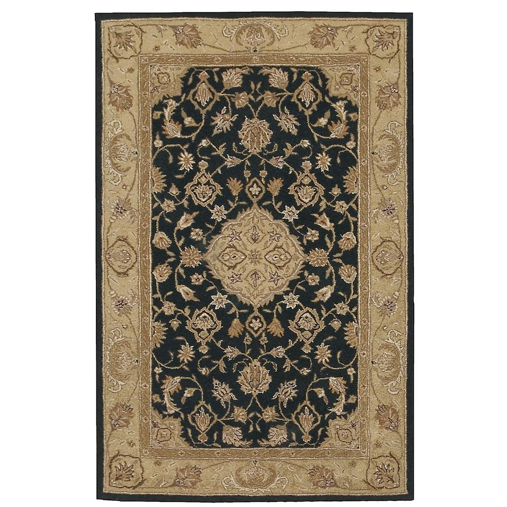 Nourison HE10 Weston 2 Ft. 6 In. X 8 Ft. Runner Rug in Black,Citron