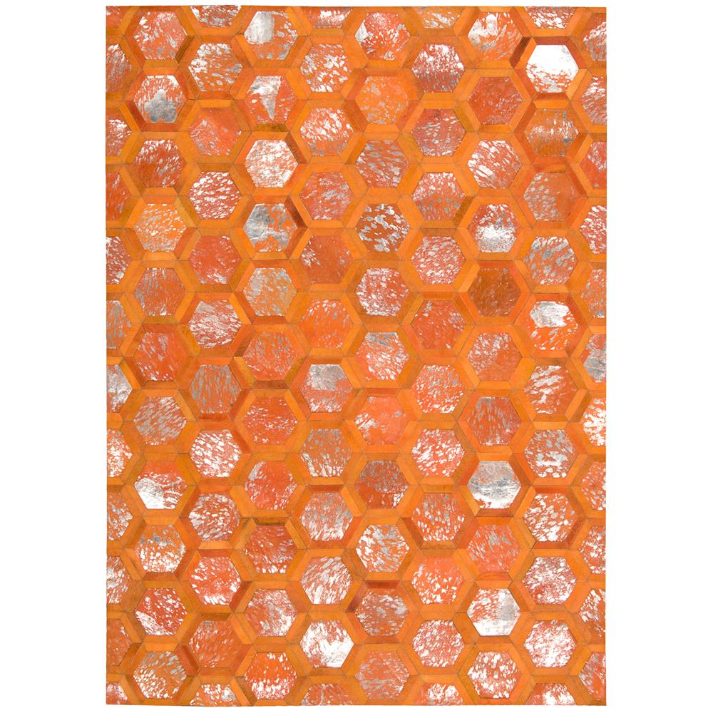 Nourison MA100 City Chic 5 Ft.3 In. x 7 Ft.5 In. Indoor/Outdoor Rectangle Rug in  Tangerine