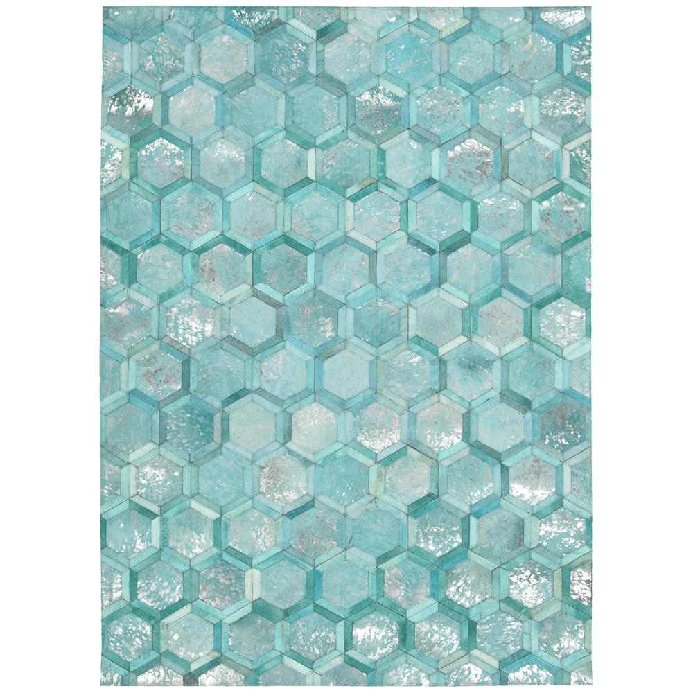 Nourison MA100 City Chic 5 Ft.3 In. x 7 Ft.5 In. Indoor/Outdoor Rectangle Rug in  Turquoise
