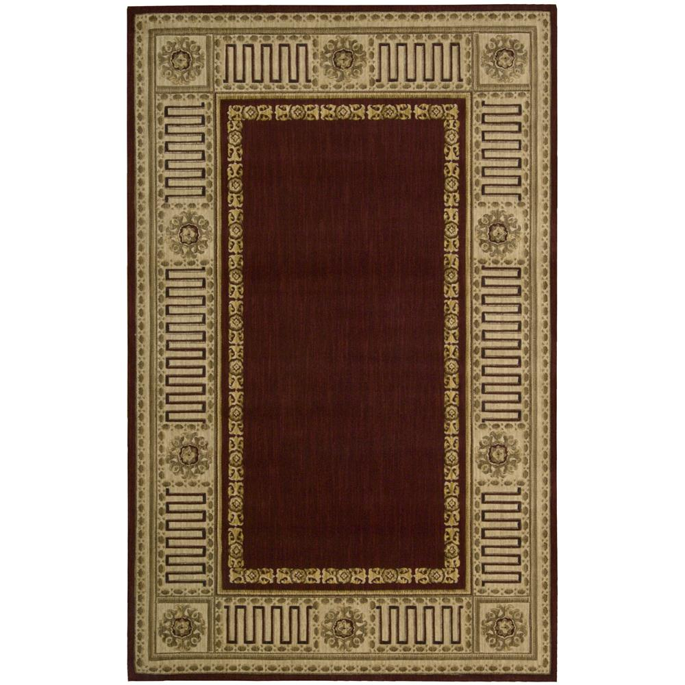 Nourison VA17 Vallencierre 2 Ft. X 3 Ft. Rectangle Rug in Burgundy