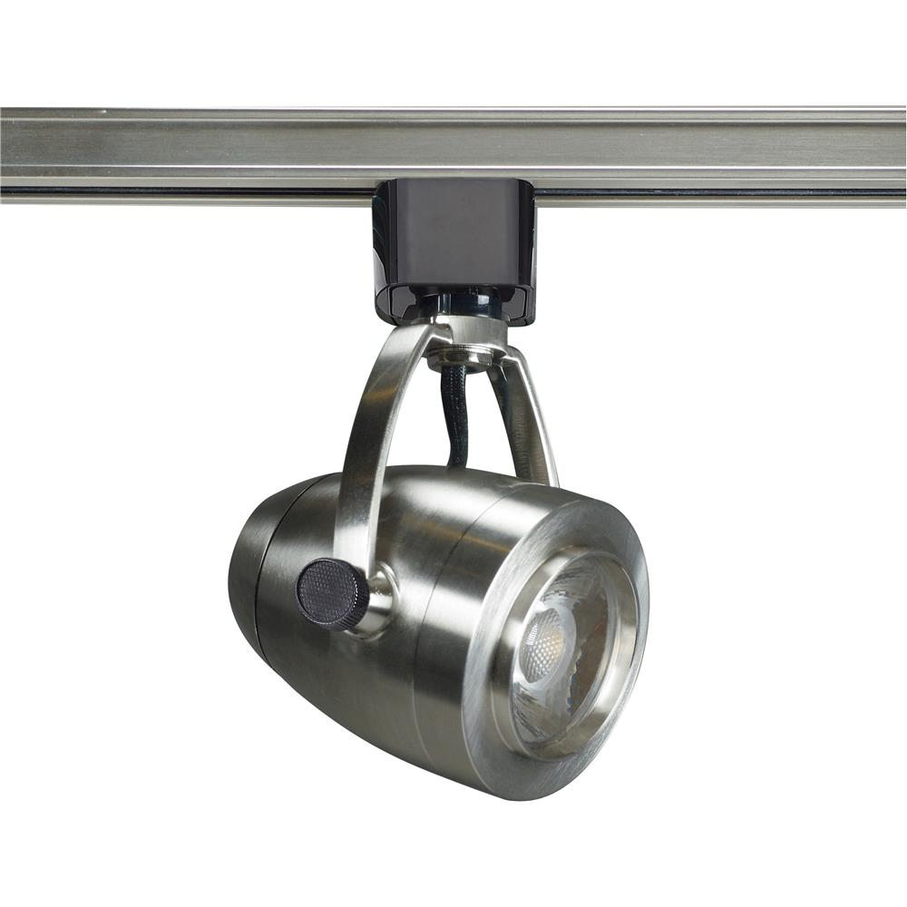 Nuvo Lighting TH415  1 Light - LED - 12W Track Head - Pinch back shape - Brushed Nickel - 24 Deg. Beam in Brushed Nickel Finish