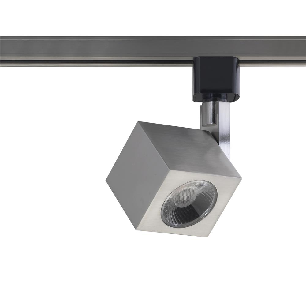 Nuvo Lighting TH465  1 Light - LED - 12W Track Head - Square - Brushed Nickel - 24 Deg. Beam in Brushed Nickel Finish