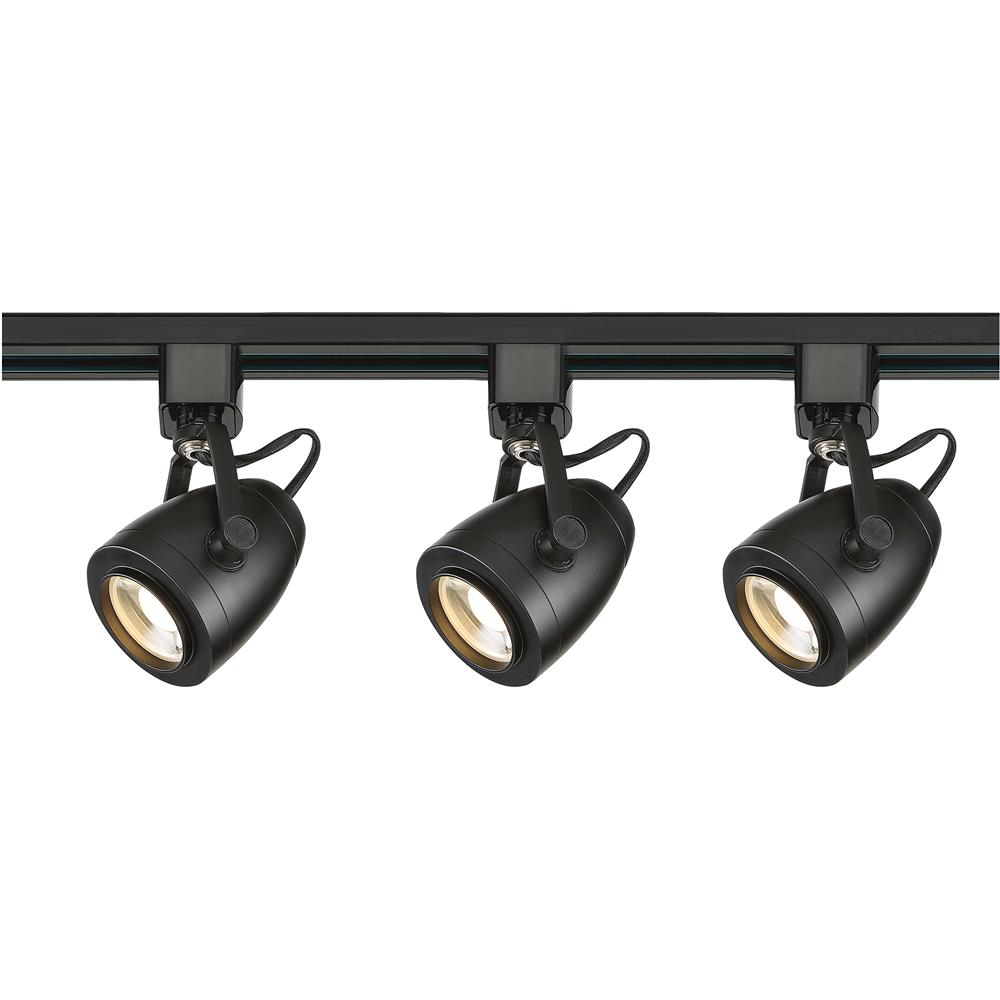 Nuvo Lighting TK414  Track Lighting Kit; 12 watt LED; 3000K; 36 degree; Pinch back; Black finish in Black Finish