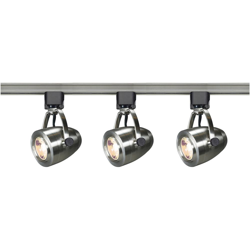Nuvo Lighting TK417  Track Lighting Kit; 12 watt LED; 3000K; 36 degree; Pinch back; Brushed Nickel finish in Brushed Nickel Finish