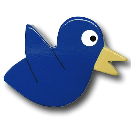 One World Kids DP00000632 Cardinal Chix Blue Wooden Drawer Pulls