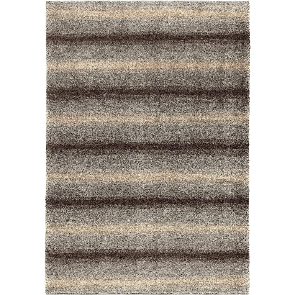 Orian Rugs 1646 5x8  Plush Abstract Skyline Grey Area Rug (5