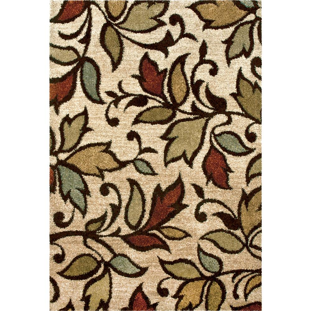 Orian Rugs 1608 2x8  Plush Leaves Getty Beige Runner (2