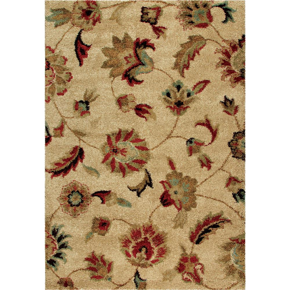 Orian Rugs 1621 2x8  Plush Floral London Beige Runner (2
