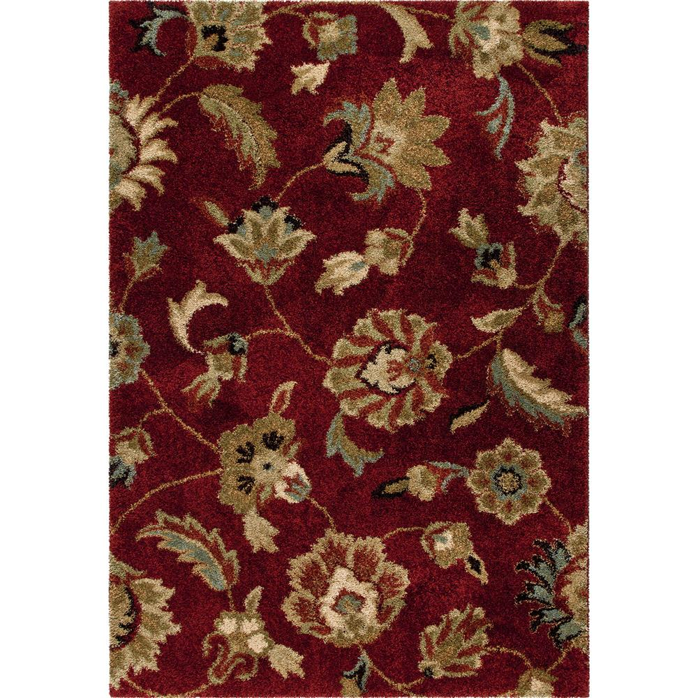 Orian Rugs 1622 2x8  Plush Floral London Red Runner (2