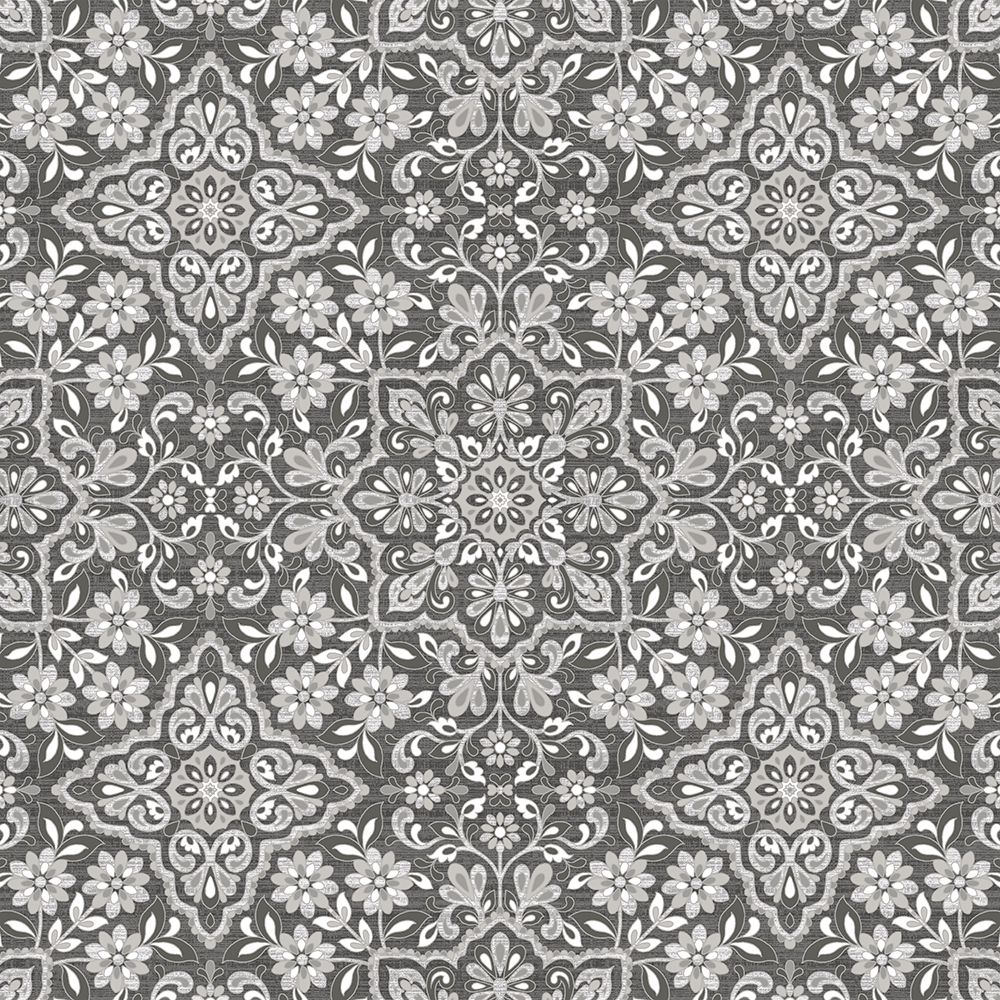 Patton Wallcoverings FH37543 Farmhouse Living Floral Tile Wallpaper