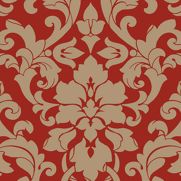Norwall DS29712 Stripes & Damask 2 Wallpaper