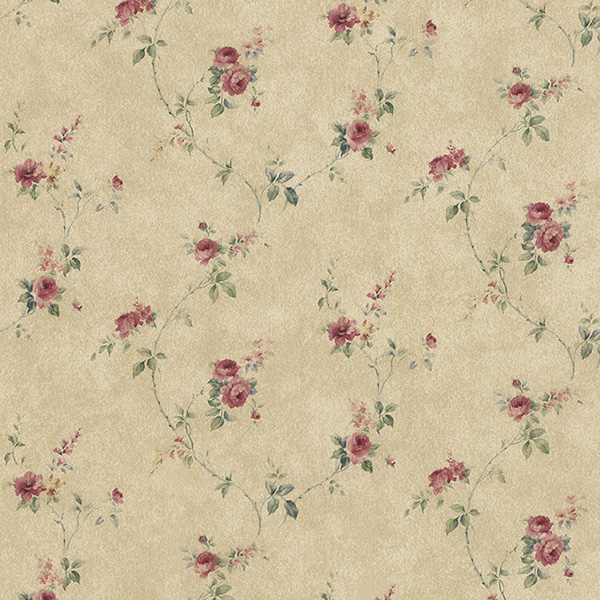 Norwall PR33806 Floral Prints 2 Wallpaper
